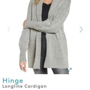Hinge longline cardigan gray soft S/M soft